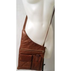 Brown Leather Vintage Crossbody